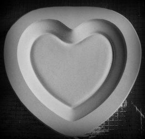 Forma gipsowa – Talerz Serce