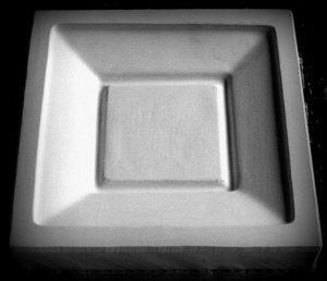 Forma gipsowa – Talerz kwadratowy mały