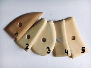 Cyklina drewniana/ różne rodzaje