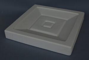 Forma gipsowa- Talerz kwadratowy duży